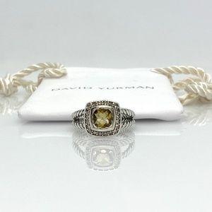 David Yurman Petite Albion ring with Citrine sz 6